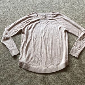 Lululemon oatmeal thin cut out sweater size 10